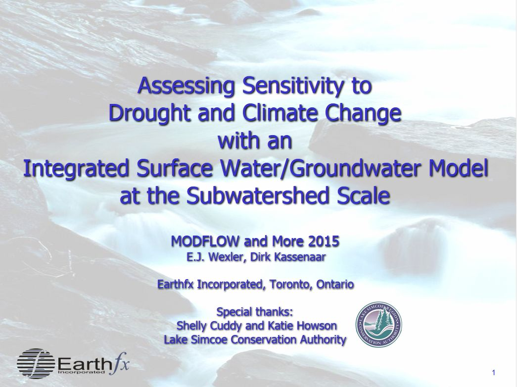 MODFLOW Oro Climate Change Assessment