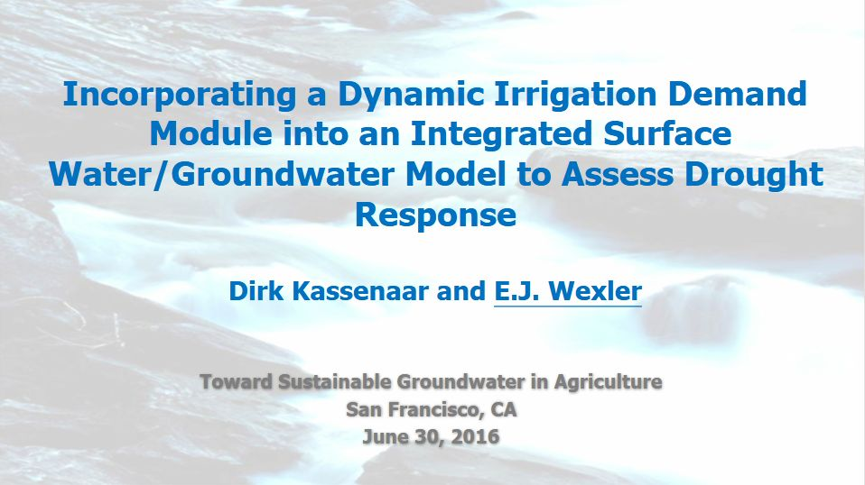 Dynamic Irrigation Demand Module