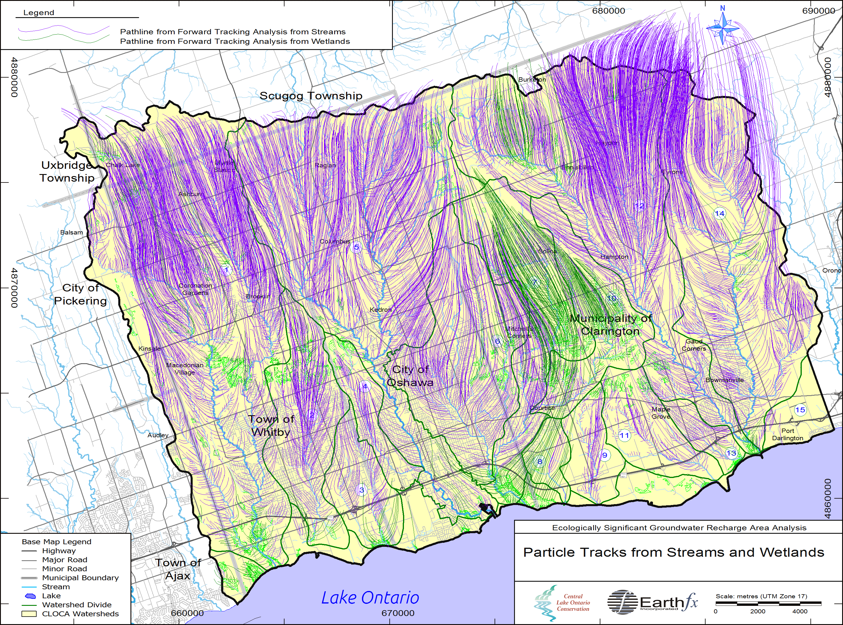 Ecologically Significant Groundwater Recharge Assessment in the Central Lake Ontario Watersheds