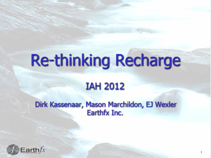 Rethinking Recharge