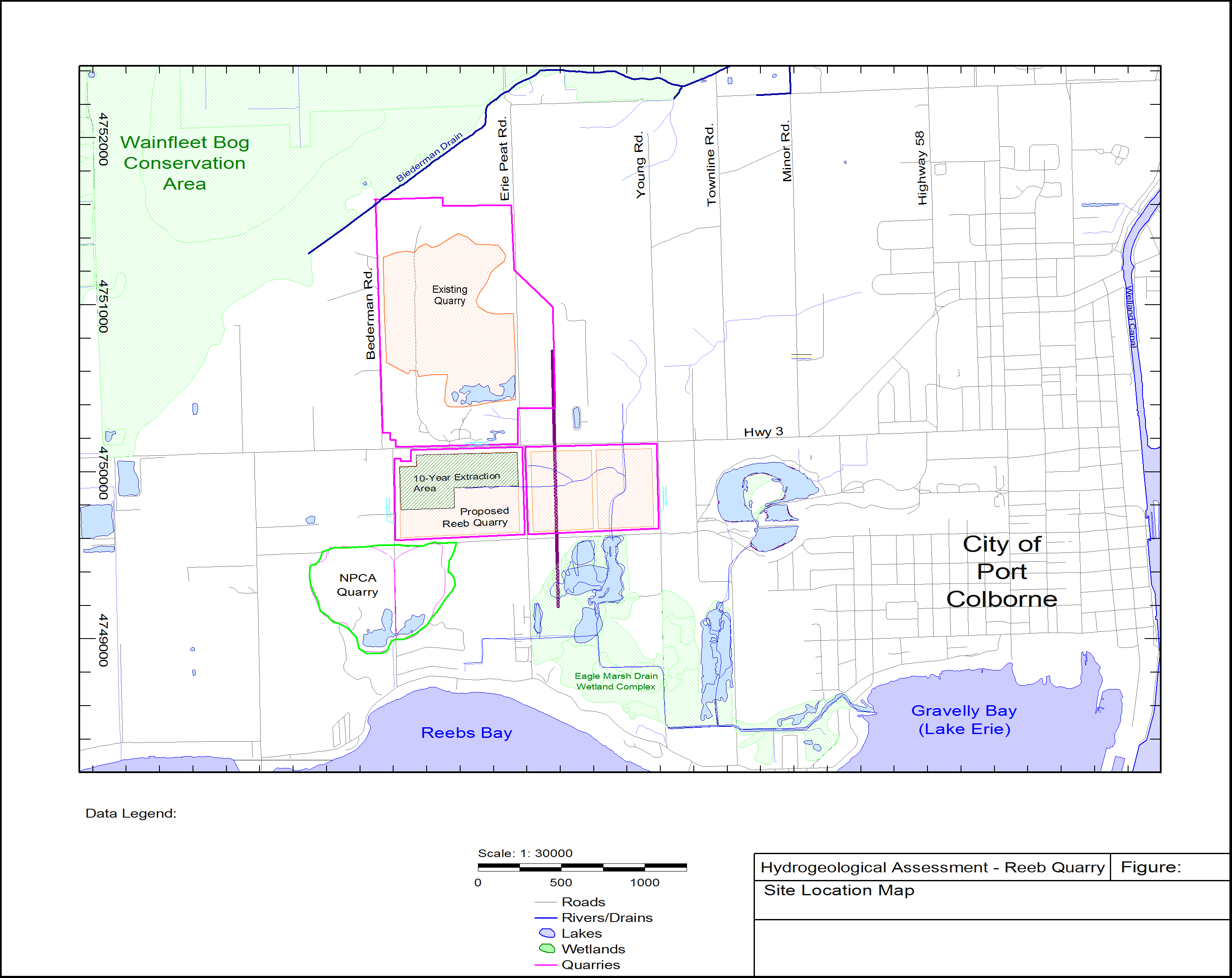 Simulation of Groundwater Flow in the vicinity of the proposed Reeb Quarry, Town of Wainfleet, Ontario