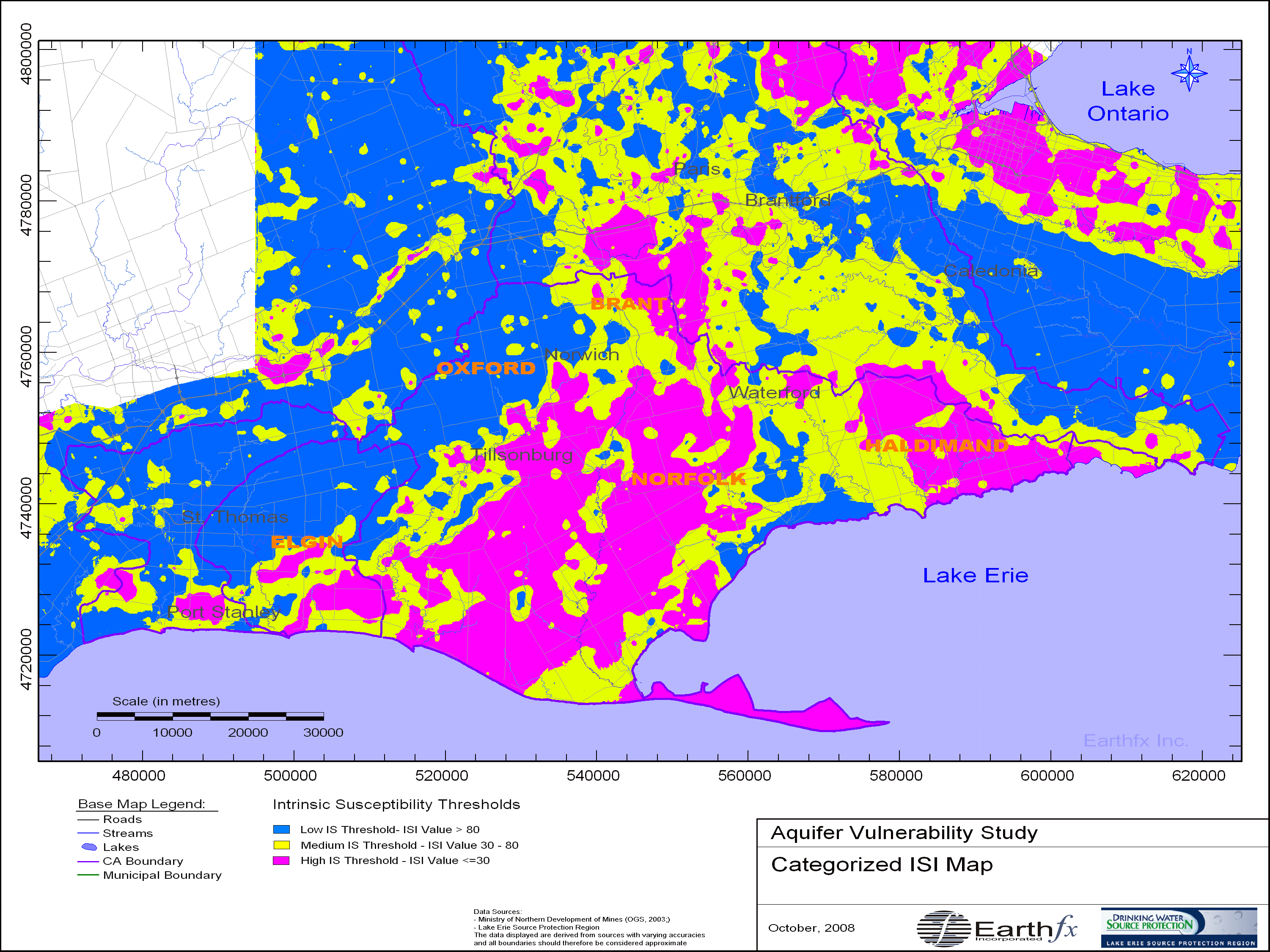 Aquifer Vulnerability Mapping for the Lake Erie Source Protection Region
