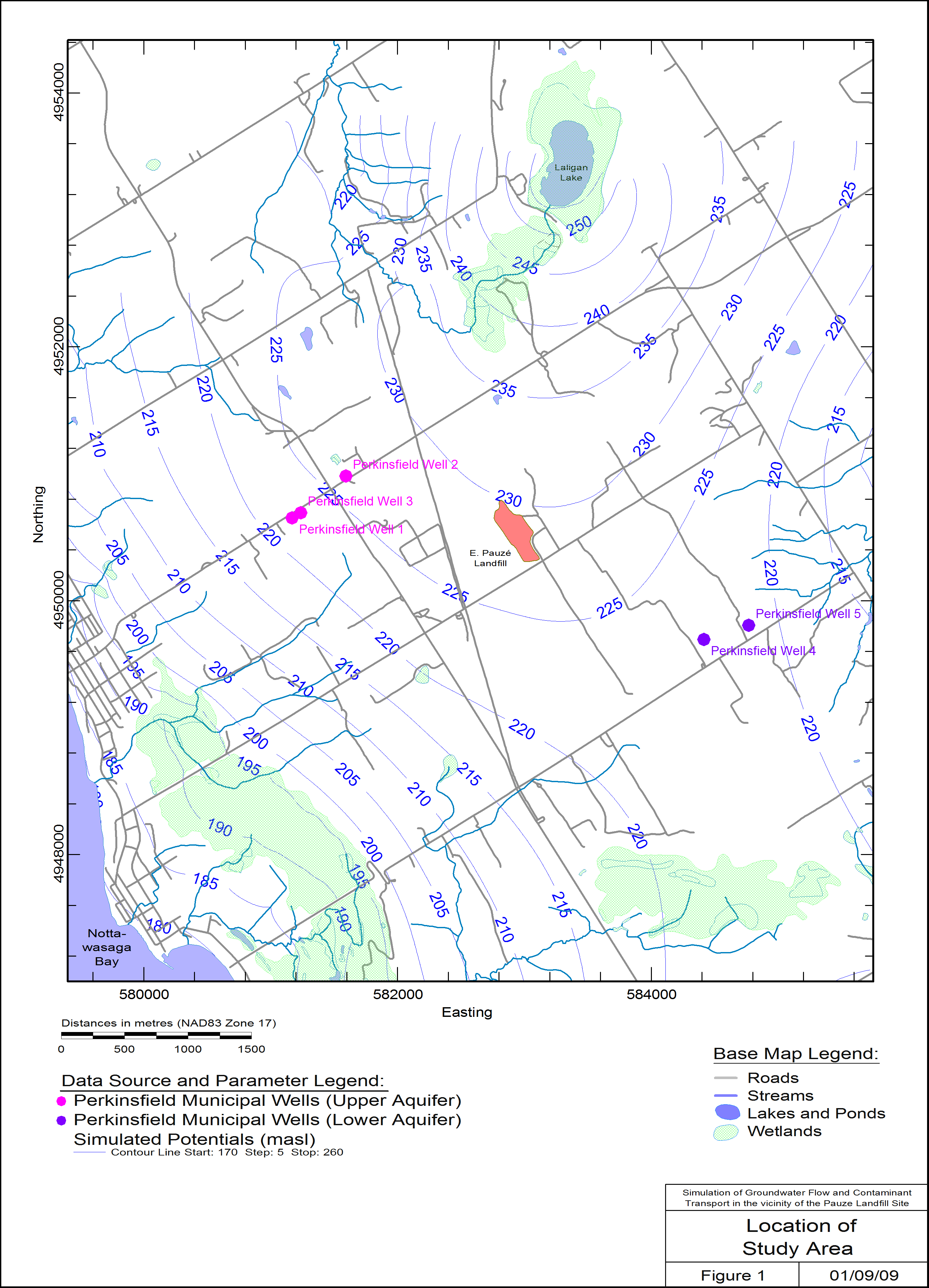 Simulation of Groundwater Flow and TCE Contaminant Transport in the Vicinity of the Pauzé Landfill, Perkinsfield, ON