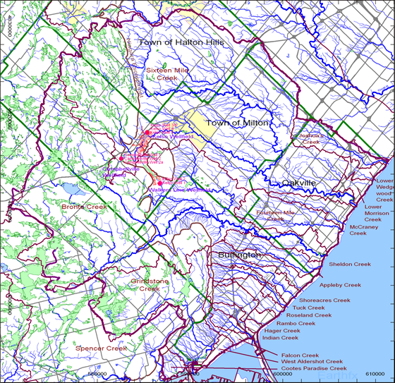 Tier 1 Water Budget Model for the Conservation Halton Area